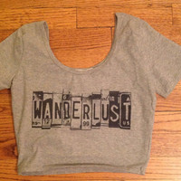 Wanderlust-desire to travel cropped tee tank Golden Youth Cropped Tee Tank Tight top Womens clothing brandy melville style
