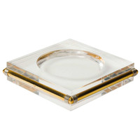 Lucite & Brass Dresser Tray after Gabriella Crespi