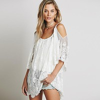 Floral Embroidered Design Summer Tunic