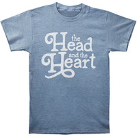 Head And The Heart Men's  Logo Slim Fit T-shirt Blue