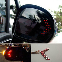 Red Arrow Panel 14SMD LED Car Side Mirror Turn Light For Benz Audi A Pair 3CA