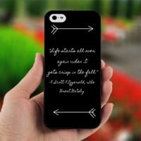 Great Gatsby Quote on Wood - Design for iPhone 5 Black Case