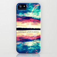nothing is what it seems - for iphone iPhone & iPod Case by Simone Morana Cyla
