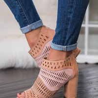 Blush Block Booties