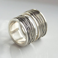 Wide Bound (Heavyweight) - Sterling Silver Wide and Chunky Wedding Band, Made to Order