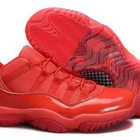 ONETOW Jacklish Cheap Air Jordan 11 Retro Low All Red Pe For Sale Online