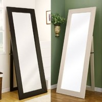 Toby Contemporary Style White Finsh Floor Mirror