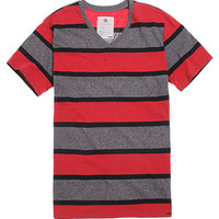 On The Byas Mixed Stripe V-Neck T-Shirt at PacSun.com