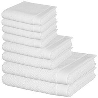 8 Pcs Premium Cotton Towel Set, 2 Bath Towels, 2 Hand Towels and 4 Washcloths