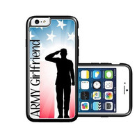 RCGrafix Brand Proud Us Army Girlfriend Flag iPhone 6 Case - Fits NEW Apple iPhone 6