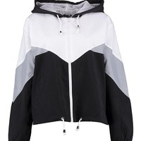 Hooded Panelled Windbreaker | Boohoo