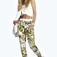 Shelly Floral Print Relaxed Fit Floral Joggers