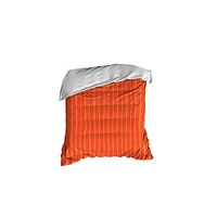 Red and Coral Striped Crib Comforter