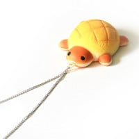 Ultra Squishy Pineapple Tortoise Bun Necklace (scented)