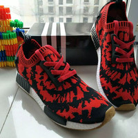 """""""Adidas"""" Fashion Casual Multicolor Spiderman Fly Weave Sneakers Men Running Shoes"""