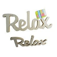 """FamilyMaid Wooden Word """"Relax"""" - 24 Units"""