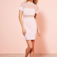 Kimchi Blue Bubble Gum Mesh Ponte Mini Dress - Urban Outfitters