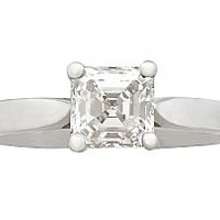 0.97 ct Diamond and Platinum Solitaire Ring - Contemporary 2008