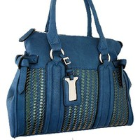 Classic Woven Style Fashion Purse Turquoise