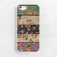Colorful Floral pattern Wood print Phone Case for iPhone 6 iPhone 5s 5c, Sony z3 compact, LG g3 g2 nexus 5, Moto X Moto G, HTC One M9 -S11