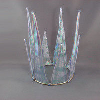 Maab - Large Iridescent Blue Ice Queen Crown - Made to Order