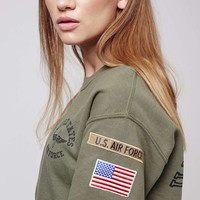 Airforce Sweatshirt by Tee and Cake - Topshop
