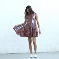 Big Summer Sale Flare Midi dress, Light Paisley