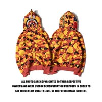 Bape Cotton Unisex Winter Camouflage Zippers Hoodies [11560007756]