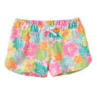Jumping Beans Tropical Print Slubbed Shorts - Girls