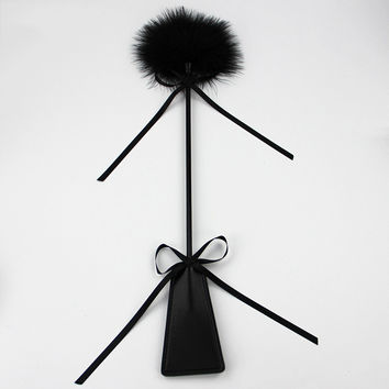 49cm Leather Spanking Paddle Fetish Whip Flogger Sex Toys for Couples Sexy Policy Knout Adult Games