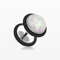 A Pair of Opalescent Sparkle Fake Plug