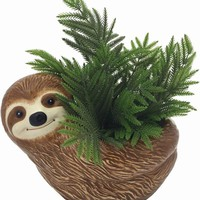 Sloth Ceramic Flower Planter - LAST ONE!