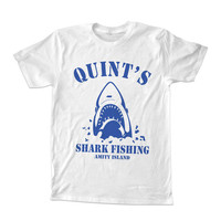 Quints Shark Fishing For T-Shirt Unisex Adults size S-2XL