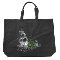 The Sea Monster Zippered Tote