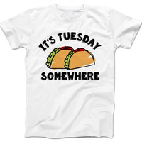 taco lover t-shirt its tuesday somewhere t-shirt taco shirt taco t-shirt