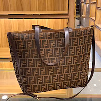 FENDI Classic Double F Letter Women's Shopping Bag Handbag Messenger Bag