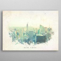 Watercolor abstract of New Yor... by Nick Strom | Displate