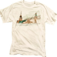 Red Square Moscow Vintage Russian CCCP Graphic Illustration Cool T-shirt