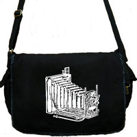 Vintage Camera Large Messenger Bag