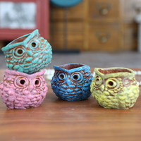 Resin owl candlestick candle holder house decoration wedding party best gift four colors