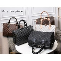 LV popular fashion full-print collision color single-shoulder bag for men and women