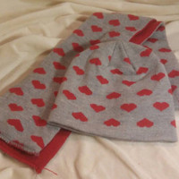 Toddlers beanie and scarf set