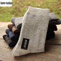 10 pieces of 5pairs NEW winter warm socks man The rabbit wool socks Men socks to Arrow pure color the extended wool socks