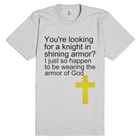Armor of God-Unisex Silver T-Shirt