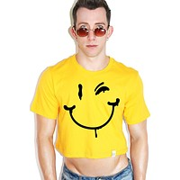 Smiles for Miles Crop Tee- Gold