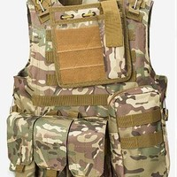 Military Tactical Vest US Army Outdoor Airsoft Paintball Vest
