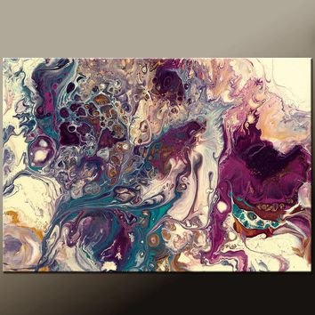 20x30 Abstract Art Canvas Print Contemporary Abstract Art by Destiny Womack - Inside the Wishing Well III - dWo