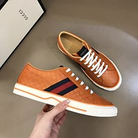 Gucci Men Fashion Boots fashionable Casual leather Breathable Sneakers Running Shoes0603em