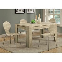 Contemporary 59 x 35.5-inch Dining Table in Natural Wood Finish