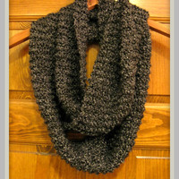 SALE Charcoal Knit Infinity Scarf